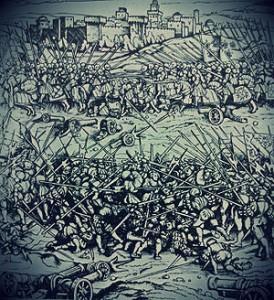 Battle_of_Ravenna_(1512) xilografia hans burgmair xvI sec