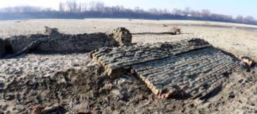 La secca del #fiume #Po restituisce il #mistero di un antico #fortino