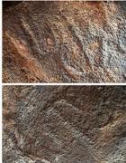 Le incisioni sul dolmen (Ansa)