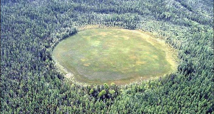 Palude in zona Tunguska erronaemante indicata come cratere